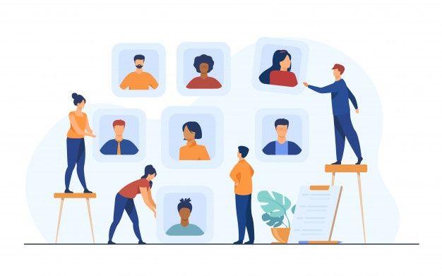 Download Employers Choosing Candidates For Job Interview For Free Entrevista De Trabajo Entrevista Vector