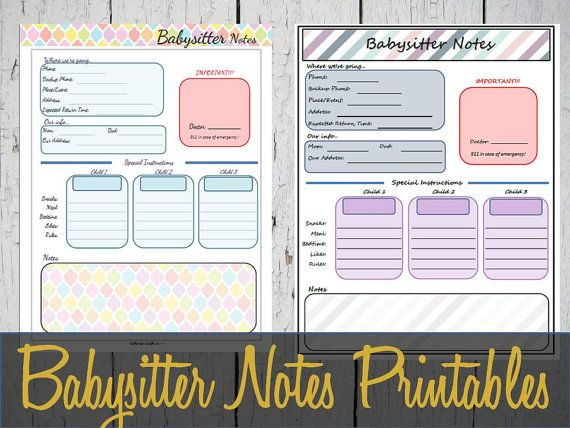 Hey, I found this really awesome Etsy listing at https://www.etsy.com/listing/246799806/babysitter-notes-printable-sheet-instant