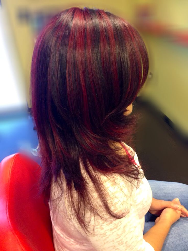 Full Red Violet Highlights From The B Red Series With A