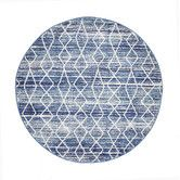 Found it at Temple & Webster - Blue & Round Art Moderne Palais Rug