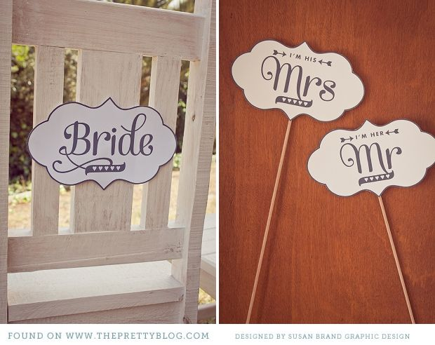 Free Wedding Sign Printables - Mr. and Mrs., Bride and Groom, Photobooth, etc.