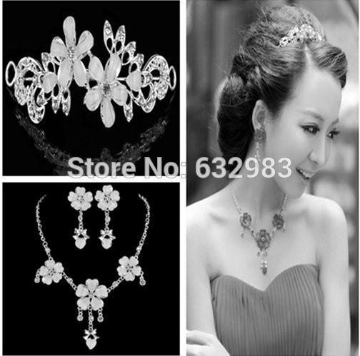 Charm Wedding Hair Jewelry Crystal Rhinestone Flower Headband Bridal Tiara Hair Accessories Silver Bridal Headwear