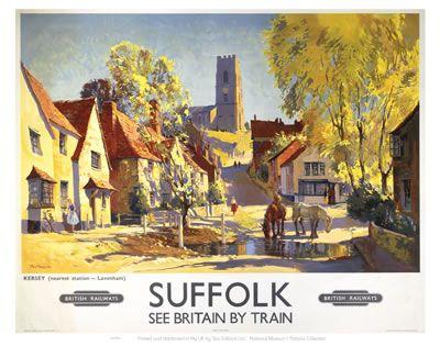 #Lavenham #Village #Vintage #Rail #Railway #Train #Poster #Posters #Prints #Print #Art #UK #Britain #British #Old #Travel #Suffolk www.vintagerailposters.co.uk