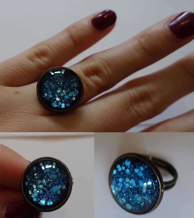 Handmade ring, bronze, blue, adjustable, ONE OF A KIND in Jewellery & Watches, Costume Jewellery, Rings | eBay