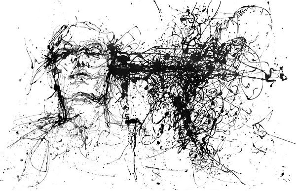 Visually Striking Black-And-White Portraits Created From Dripped Paint - DesignTAXI.com