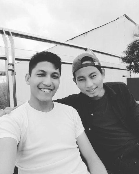My bro and I !   #yangon #myanmar #job #waiter #bartender #caption #blackandwhite #avecmoderation #photography #atlas #rooftop #lounge #bestview #tbt #instagram #instagramer #followme #samsung6edge #l4l #pose