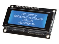 Velleman KA06: LCD Shield for Arduino  Add an LCD to your projects and visualize measurements, parameters, data, and messages