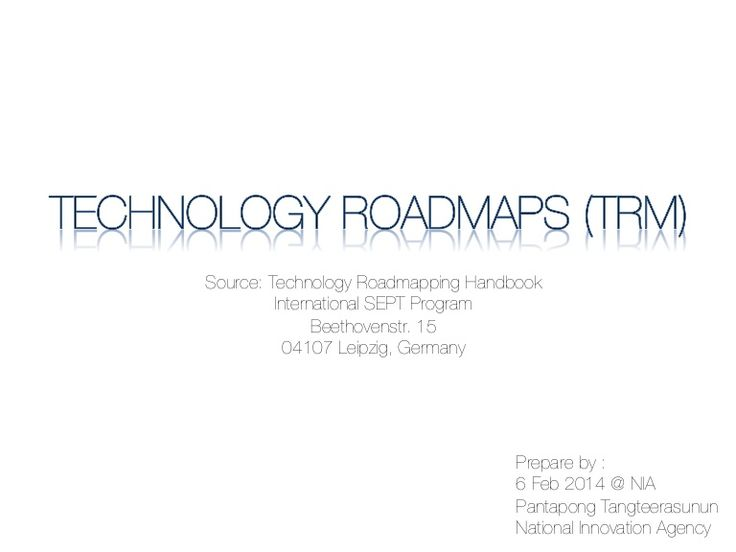 Technology roadmap 06022014 by PT in Motion via slideshare