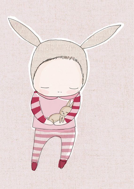 Baby Shower Gift  Baby Bunny Rabbit Cuddle  Pink and by honeycup, $20.00