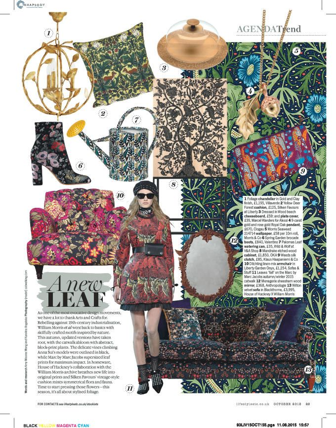A new Clogau #leaf spotted in the October issue of Livingetc!  #autumnal #style