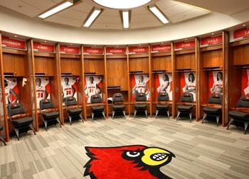 Louisville basketball locker room