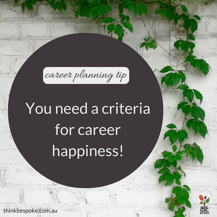 #CareerPlanning Tip: A successful career move is defined by you and needs to be based on your happiness. So often I see people make career choices based on their finances alone. While this is of course a critical factor so are other things like the types of roles you enjoy the industries you want to work in proximity to home and the culture of the organisation. #career #careercoach #careerplanning #careerplan #newjob #newcareer #newbusiness #business #career #ThinkBespoke #KarenHollenbach