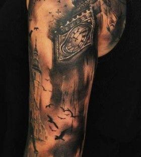 Big Ben tattoo by Florian Karg