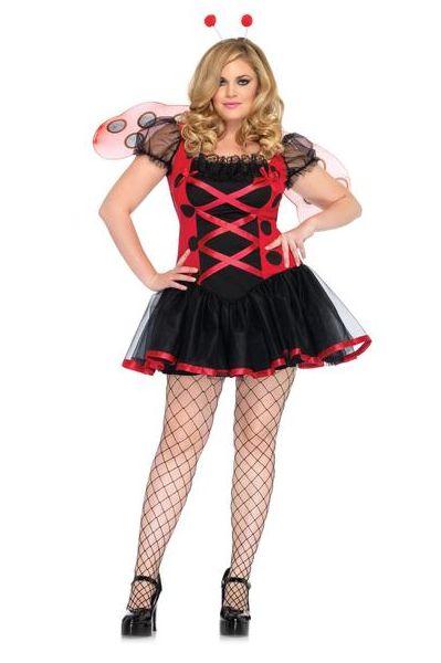 LA83652X Lovely Ladybug Plus Size Fancy Dress Costume