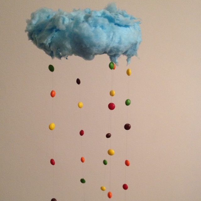 Raining Skittles From A Cotton Candy Cloud Food And