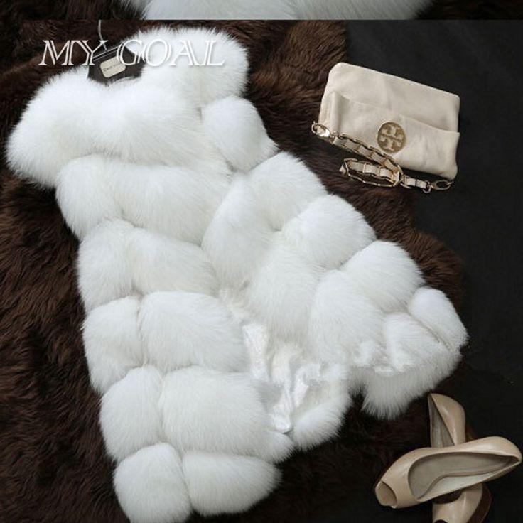 Inverno Quente Casaco De Pele Colete Colete Mulheres Nova Moda Chegada de Importação High-Grade da Pele Do Falso Casaco de Pele De Raposa Longo Colete Preto Plus Size