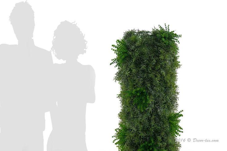 Столбик из растений искусственных.