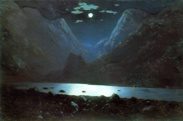 The Canyon of Darial 1890 1895 | Arkhip Kuinji | oil painting #russianpaintings