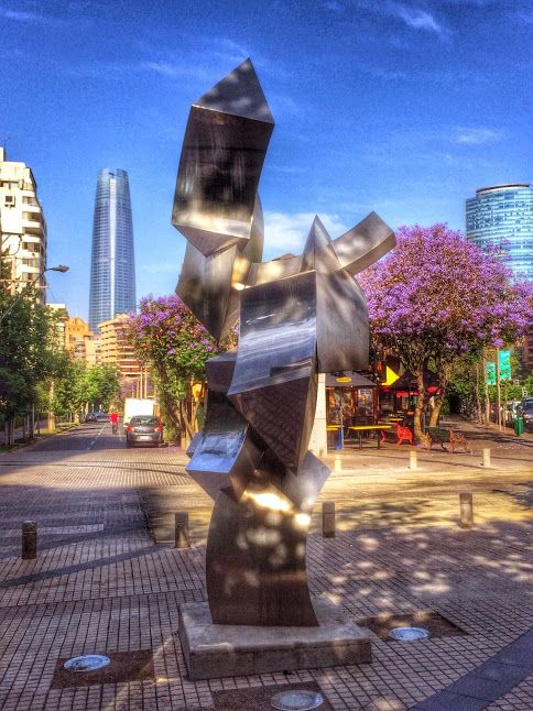 Santiago, Chile. Las Condes... with the Costanera Tower on the background (the tallest in Latin America)