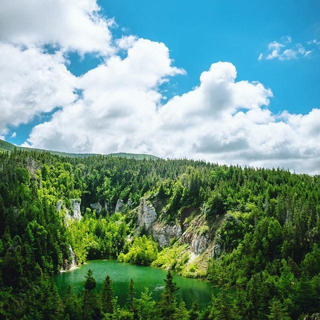 Gypsum mines swimming hole in Cheticamp. One of the coolest places to grab a dip in Nova Scotia. #capebreton  .  .  .  .  .  .  #VisitNovaScotia #hiking #novascotia #swim #summer #forest #eastcoast #explorecanada #imagesofcanada #wanderlust #wonderful_places #fuji #fujixt1 #canadaday #igers #getoutstayout #neverstopexploring #exploreeast #canadaday #polarizer #hoya #throwback #cb