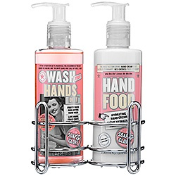 Soap and glory Cream and Soaper Duo. I would LOOOOVE this by my sink. Hand Food is the best stuff ever.