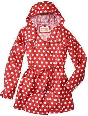 GUILTY! I am now an owner to this red and white polka dot rain jacket. LOVE!!!