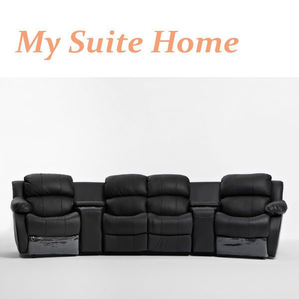 Nikki Leather 4 Seater Home Theatre Recliner Sofa Lounge Suite with 4 Reclines & Best 25+ Home theatre lounge ideas on Pinterest | Attic media room ... islam-shia.org