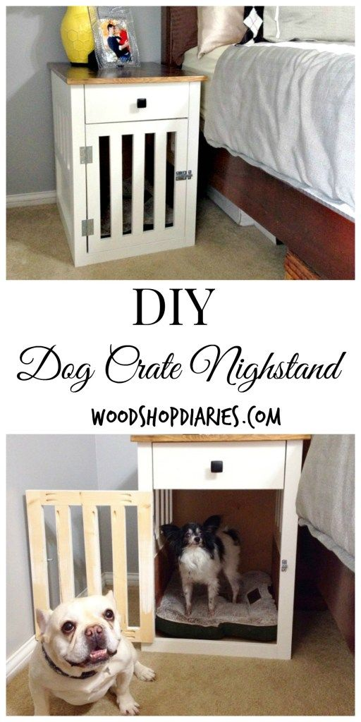 Do double duty with these DIY dog crate nightstands--Woodshop Diaries