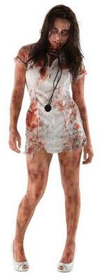 Zombie Nurse Costume Walking Dead Nurse $16.29 http://www.halloweencostumes4u.com/prods/rub880388-zombie.html #zombie #zombienurse #zombiecostume #walkingdead #livingdead #halloweencostume #nurse