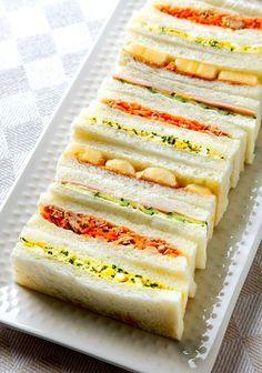 Colorful Japanese sandwiches look like art. (Photo by Katsumi Oyama)