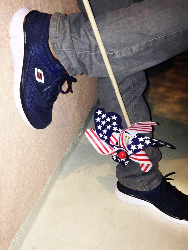 Have him look styling this 4th of July in Skechers.