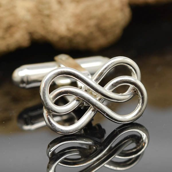 Double Infinity Cufflinks, mens accessories, mens cufflinks, groomsmen gift, gift for father, wedding day gift, gift for him, fathers day by JubileJewel on Etsy