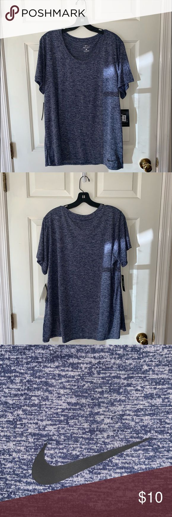 Nike Dri Fit Blue T Shirt Never Been Worn Loose Fit 100 Polyester Have 5 T Shirts Of Size 1x Included A Size Chart F Clothes Design Fashion Fashion Design