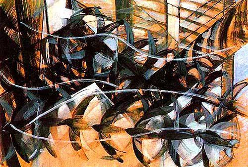 swallows in flight, giacomo balla. i have loved this piece for a long time.