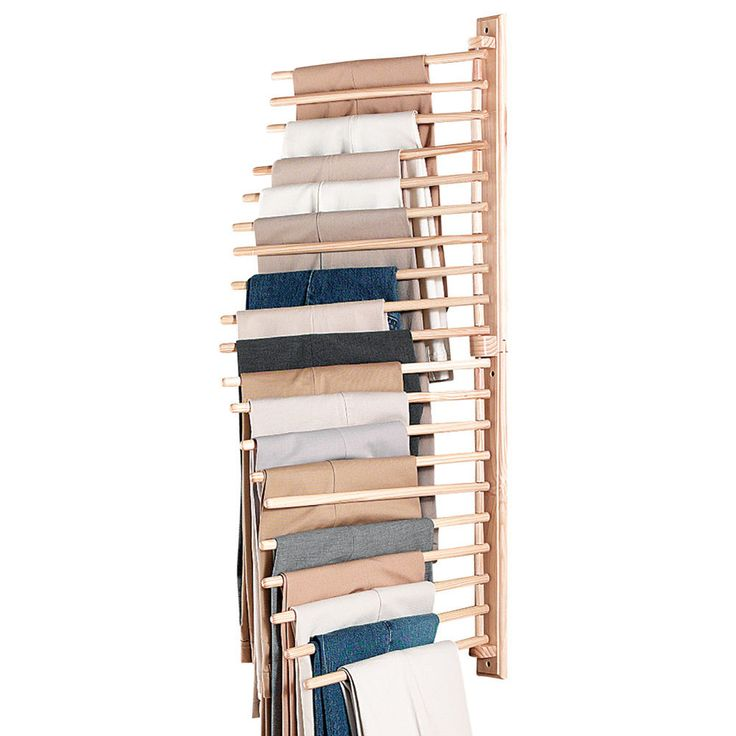 Collections Etc Wall Mount Trouser Pant Closet Organization Rack in Home & Garden, Household Supplies & Cleaning, Home Organization | eBay