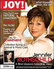 Cover story on Jennifer Rothschild, our 2011 speaker, written by Aldyth Thomson in May 2011 issue of JOY! http://beautyforashes.co.za/wp-content/uploads/2013/10/Jennifer%20Rothschild.pdf