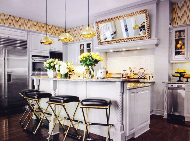 Love The Color Combo Fun Wallpaper Would Be Easy To Blend Caramel Family Room Kardashians Houses Pinterest Combos