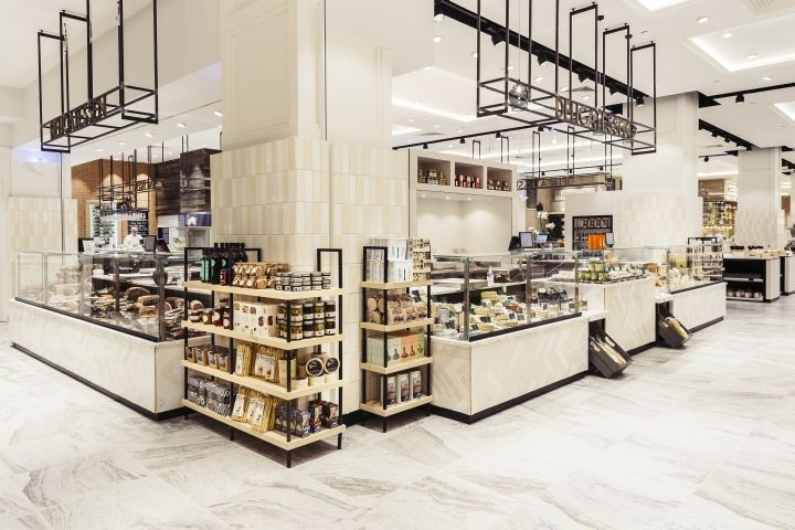 CADA's brief was to create stylish interiors for a number of specialist fresh food departments including a fishmonger, a meat and game specialist (local supplier Blagdon Farm), chocolatiers, coffee roasters and a juice bar.