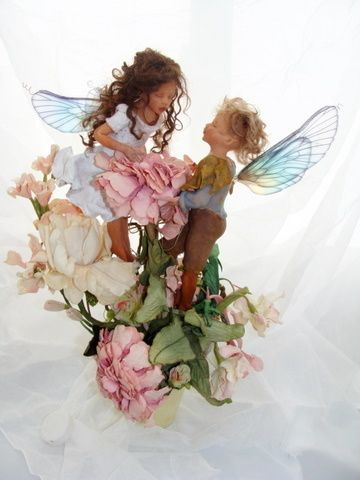 polymer clay sculpted fairies via Behance: Art Crafts, Sculpting Fairies, Fairies Tail, Petals Fairies, Fairies Boards, Fairies Collection, Fairies Art, Rainbows Wings, Fairies Fashion