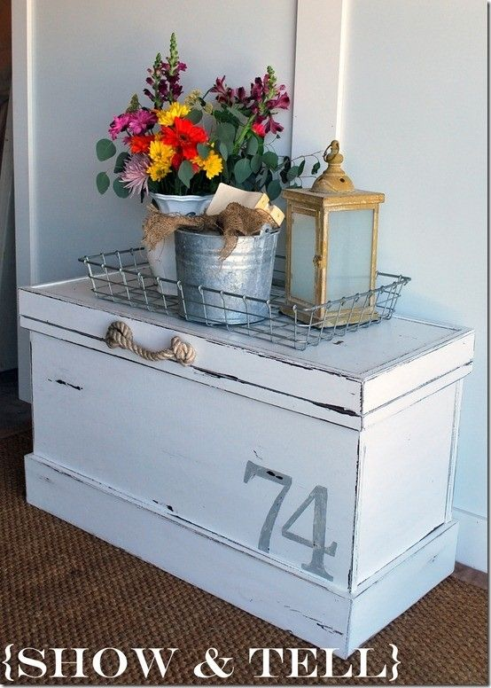 vintage cedar chest makeover by Monika Baker