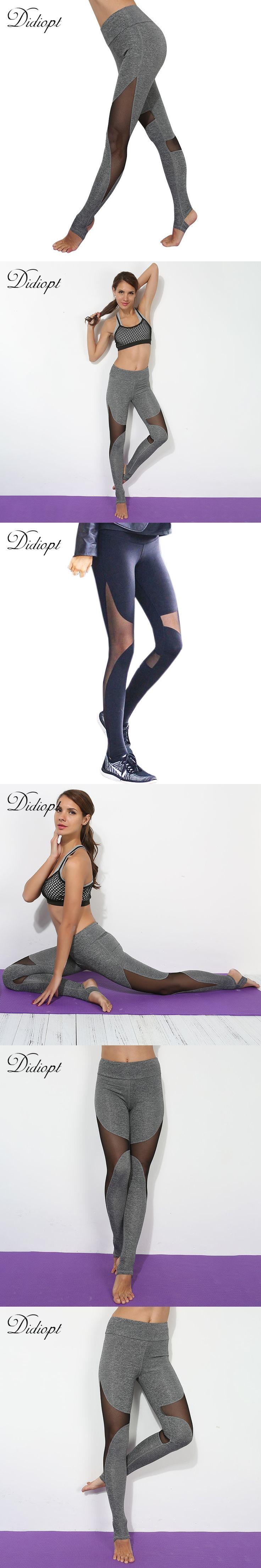 Sport Leggings Skinny Yoga Panties Transparent Patckwork Fitness Leggings Women's Running Pant High elasticity Workout Leggins