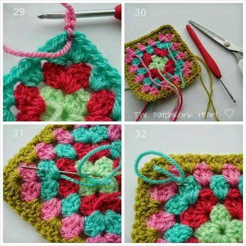 329 besten Crochet - Granny Squares - Friendship Blanket Bilder auf ...