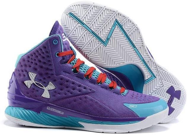 Stephen Curry One Father to Son Purple Womens Shoes
