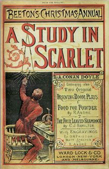 A Study In Scarlet by Sir Arthur Conan Doyle  First edition in annual cover, 1887