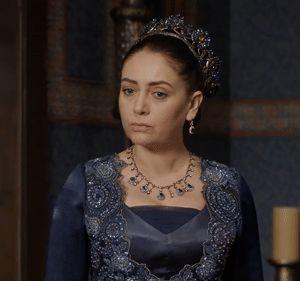 Gulbahar's navy lace dress, 2x13 - Magnificent Wardrobe