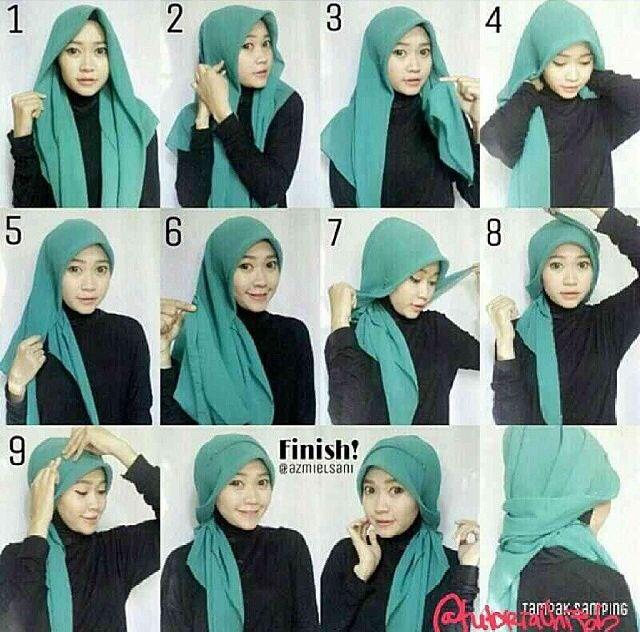 #hijab #tutorial #bawal #side #stepbystep