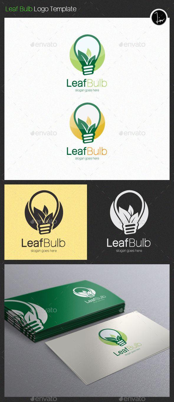 Leaf Bulb - Logo Design Template Vector #logotype Download it here: http://graphicriver.net/item/leaf-bulb-logo/11407930?s_rank=872?ref=nexion