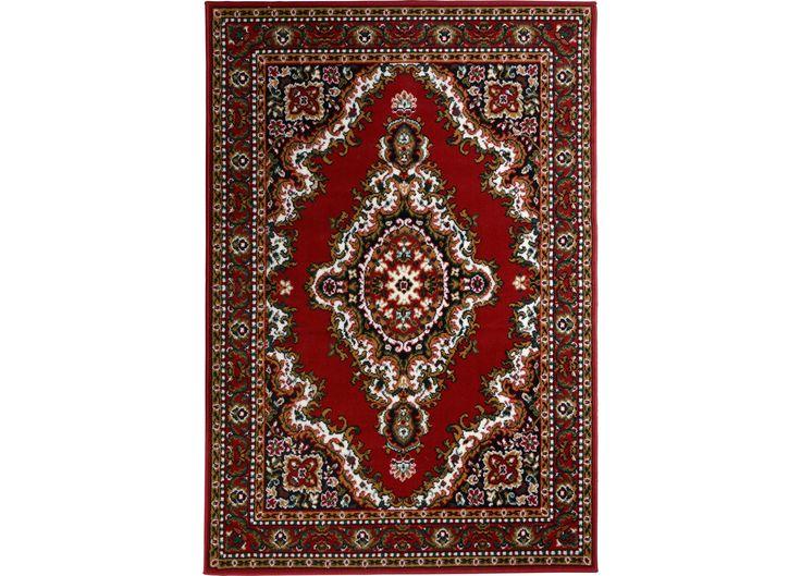 Vloerkleed MEDAILLON - Leuk klassiek rood karpet genaamd Madaillon. Afmeting breedte 120cm en lengte 170cm. Verkrijgbaar in diverse afmetingen. #kwantum #vloerkleed #vloerbedekking #wonen #interieur