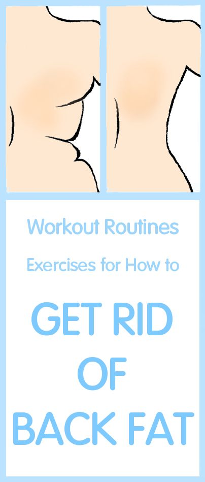 How they How to get rid of back fat exercises