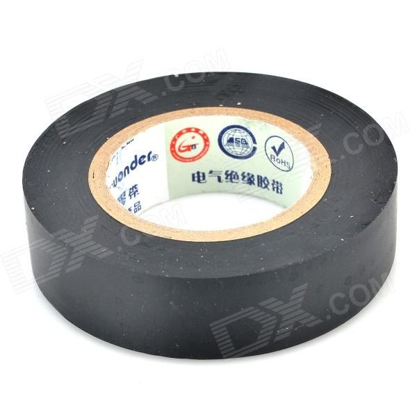 1.7cm Electrical Insulation PVC Adhesive Tape - Black (5M / 3PCS)